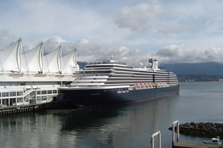 oosterdam, cruise ship, canada place