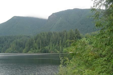 cleveland dam, capilano resevoir, grouse mountain tram