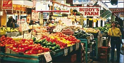 granville market, ganville island market, markets
