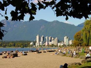 kitsilano beach, volleyball, vancouver beaches