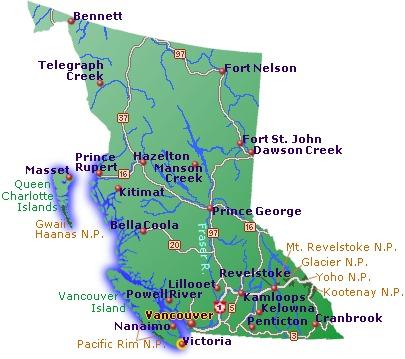 British columbia, vancouver maps, bc maps, british columbia maps