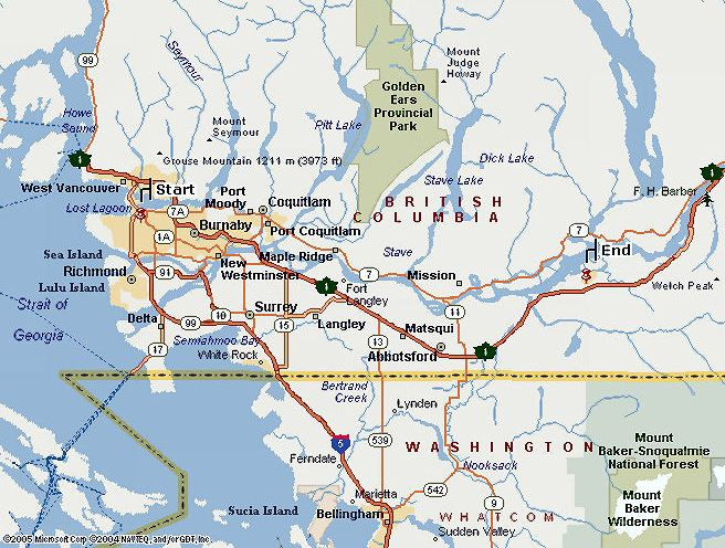 british columbia canada west coast bc map