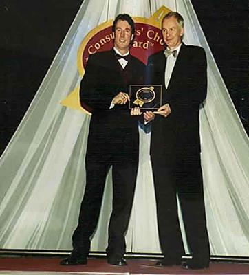Scott Barratt with 2010 Olympics CEO John Furlong