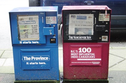 vancuver newspapers, vancouver newspaper, newspapers, newspaper box,