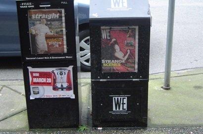 vancuver newspapers, vancouver newspaper, newspapers, newspaper box,